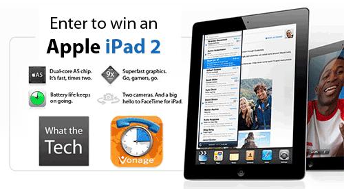 Vonage iPad2 contest